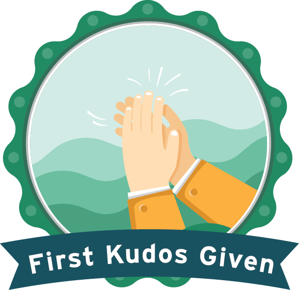 First Kudos Given