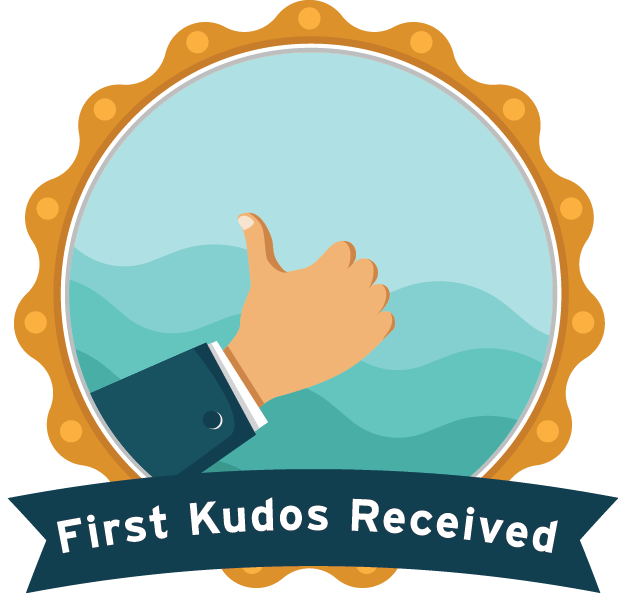 First Kudos Received