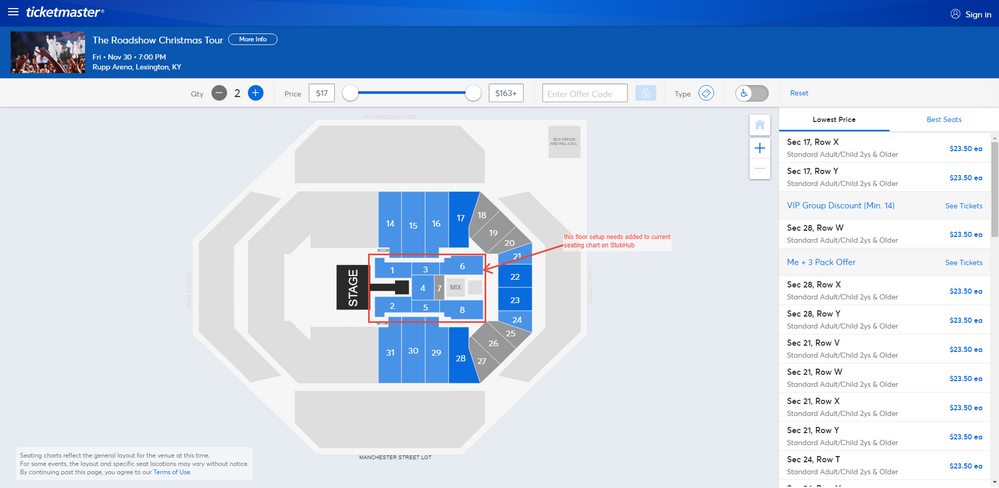 Screenshot of Tickets _ The Roadshow Christmas Tour - Lexington, KY at Ticketmaster.png