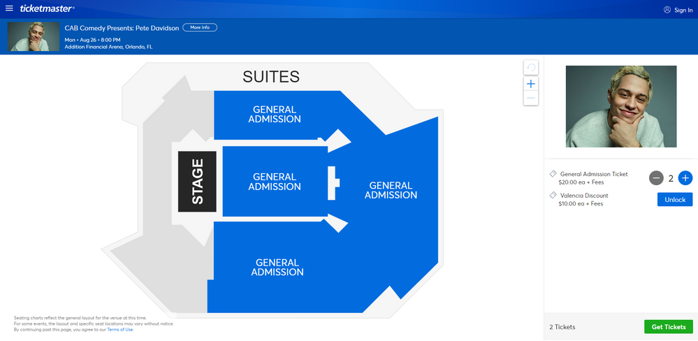 Screenshot of Tickets _ CAB Comedy Presents_ Pete Davidson - Orlando, FL at Ticketmaster.png